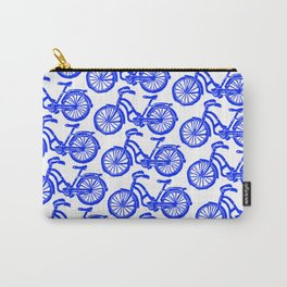 roule ma poule - wanna ride my bicycle BLUE Carry-All Pouch