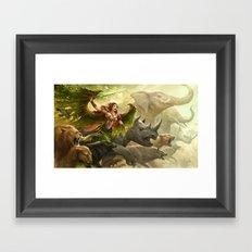 Green Angel Framed Art Print