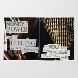 Money for Power Print Rug