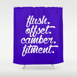 flush offset camber fitment v6 HQvector Shower Curtain
