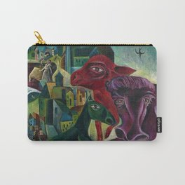 City with Animals by Max Ernst Carry-All Pouch