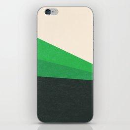 Stripe V Green Fields iPhone Skin