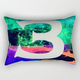 Number Three Rectangular Pillow