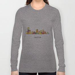 Austin Texas Skyline WB1 Long Sleeve T-shirt