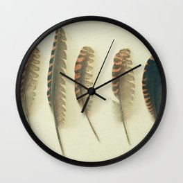 Feathers #2 Wall Clock