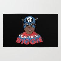 biggie Area & Throw Rugs featuring Captain Biggie by Chris Piascik