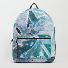Glowing Turquoise Leaves Backpack