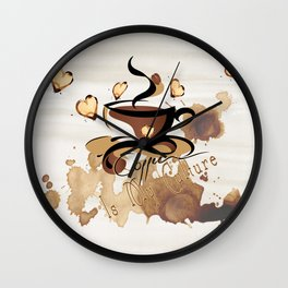 Coffee Is My Culture Wall Clock