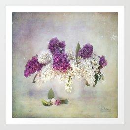 still life with lilac Art Print