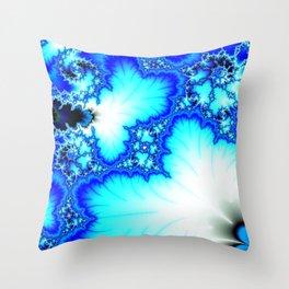 Frozen Fractal Terrain Throw Pillow