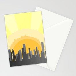 Grey City Morning Stationery Cards