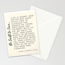 Be Swift to Love Episcopal Prayer Word Design by Christie Olstad Stationery Cards