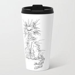 Disgruntled Cat Travel Mug