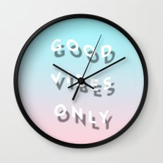 Good Vibes Only - Shadow Gradient - Vaporwave Wall Clock