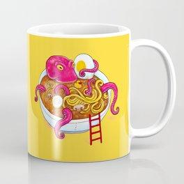 Bowl of ramen with octopus taking a bath Coffee Mug