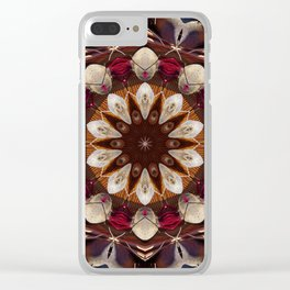 The beet mandala (the beauty of vegetables!) 708 Clear iPhone Case