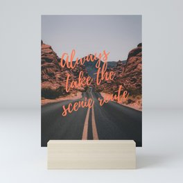 Scenic route Mini Art Print