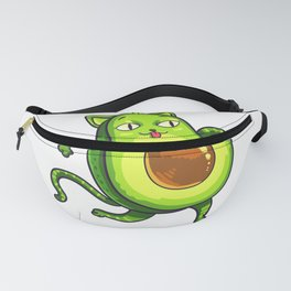 Avogato Avocados Cat Avocato Kitty Lover Cute Gift Fanny Pack