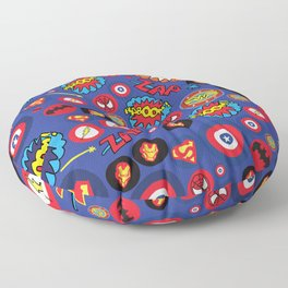 Movie Super Hero logos Floor Pillow