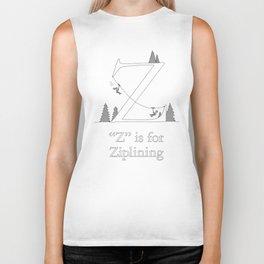 """""""Z"""" is for Ziplining Biker Tank"""