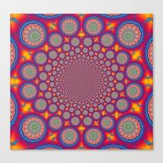 BBQSHOES: Wheels Of Time II Fractal Mandala Canvas Print