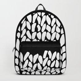Half Knit  Black Backpack