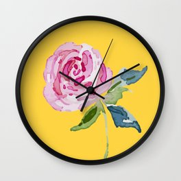 Watercolor Rose Wall Clock