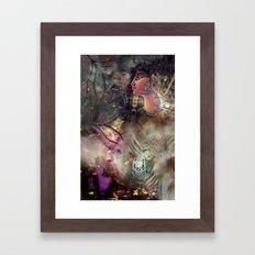 Gold and Glass Framed Art Print