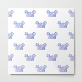 Mouse Ear Beanie Pattern Metal Print