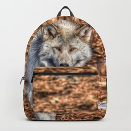 Arctic Wolf and Pine Tundra Backpack
