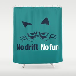 No drift No fun v2 HQvector Shower Curtain