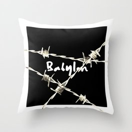 babylon barbedwire Throw Pillow