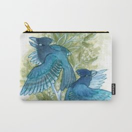 Blue Jays and Tea Olive Plant Carry-All Pouch