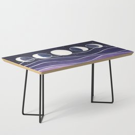 Purple Mountains and Moon Coffee Table