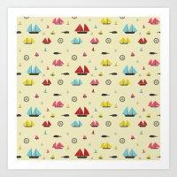 boats Art Prints featuring Boats by Annika Bäckström