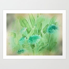 Elegant Soft Watercolor Floral  Art Print