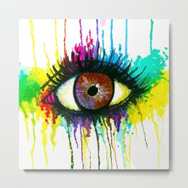 Watercolor Eye Metal Print