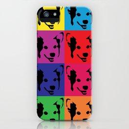 Corgi Pop art - dog pop art, corgi, cute, bright colorful, warholesque iPhone Case