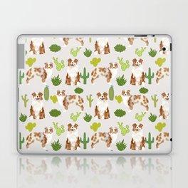 Australian Shepherd owners dog breed cute herding dogs aussie dogs animal pet portrait cactus Laptop & iPad Skin