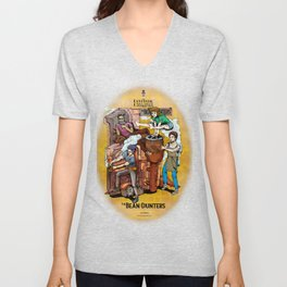 The Fantastic Craft Coffee Contraption Suite - The Bean Counters Unisex V-Neck