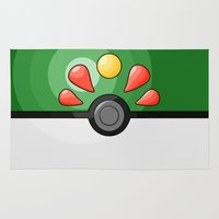 pokeball Area & Throw Rugs featuring Friendship Pokeball by Amandazzling