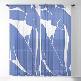 Henri Matisse - Blue Nude 1952 - Original Artwork Reproduction Sheer Curtain