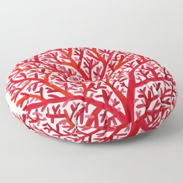 Red Fan Coral Floor Pillow