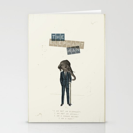 The elephant man Stationery Cards
