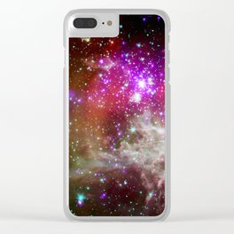 NGC 281 nebula with active star formation (NASA/Chandra) Clear iPhone Case