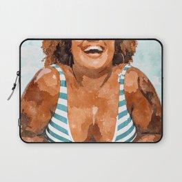 Curvy & Happy #painting #illustration Laptop Sleeve