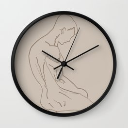 Sad Man Silhouette Wall Clock