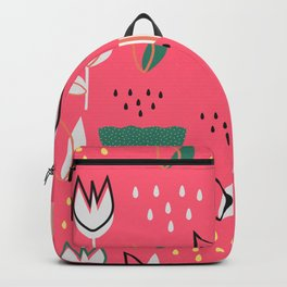 Flowers and raindrops Backpack