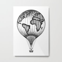 EXPLORE. THE WORLD IS YOURS. (No text) Metal Print