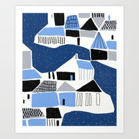 iceland Art Prints featuring iceland by frameless